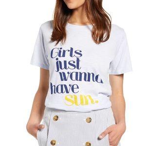 """✨🆕✨ J.Crew """"Girls just wanna have sun"""" T"""